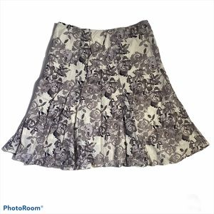 Whitehouse & black market floral skirt 100%cotton